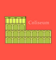 colosseum in italy icon in cartoon style isolated vector image vector image