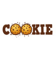 cookie logo custom typography vector image vector image