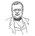 count cavour vintage vector image vector image