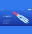 creative startups isometric landing page template vector image