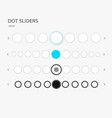 dot sliders set vector image vector image
