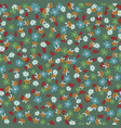 flowers and bees seamless pattern vector image vector image