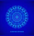 geometric blue glow mandala vector image