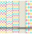 geometric patterns - seamless collection vector image vector image