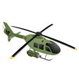 green military helicopter vector image