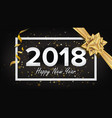 happy new year 2018 background beautiful vector image vector image