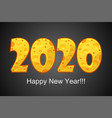 happy new year 2020 textured cheese vector image vector image