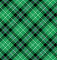 hibernian fc tartan fabric texture diagonal vector image vector image