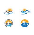 high mountain icon logo business template vector image vector image
