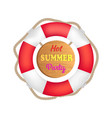 hot summer party lifebuoy vector image vector image