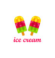 ice cream dessert logo vector image