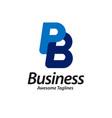 letter pb logo design vector image vector image