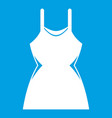 little dress icon white vector image vector image