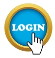 login time icon vector image
