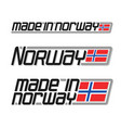 made in norway vector image