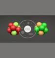 molecule 3d concept for science design vector image vector image