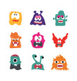 monsters cartoon character with actions vector image