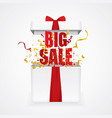 open gift box with big sale vector image