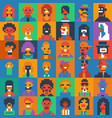 pixel art people characters set various ages and vector image vector image