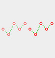pixelated and flat dotted trend chart icon vector image vector image