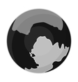 Pluto icon in monochrome style isolated on white vector image vector image