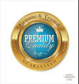 premium quality blue and gold button vector image vector image