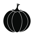 Pumpkin icon black vector image vector image