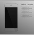 realistic transparent smartphone with a blank vector image vector image