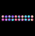 Rounded holographic gradient sphere set gradient