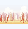 runners and crowd vector image vector image