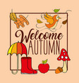 seasonal weather autumn vector image