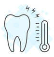 sensetive tooth thin line icon stomatology vector image vector image