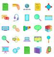 seo expert icons set cartoon style vector image vector image