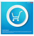 shopping cart icon abstract blue web sticker vector image