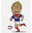 Soccer player French vector image
