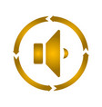 speaker turn icon vector image