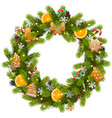 sweet christmas fir wreath vector image vector image