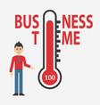 temperature thermometers business day concept vector image vector image