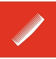 The comb icon Barbershop symbol Flat vector image vector image