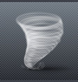 tornado storm isolated realistic twister vector image