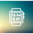 Trendy smart watch thin line icon vector image