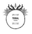 tribal frame vector image