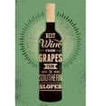 Typographic retro grunge wine poster vector image vector image