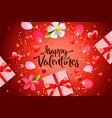 valentines day sale background with gift box vector image vector image