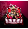 voodoo esport mascot logo design vector image vector image