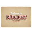 welcome to budapest vector image