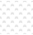 white baseball cap in front pattern seamless vector image vector image