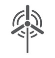 wind generator glyph icon ecology and energy vector image vector image