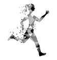 woman running fitness vector image vector image