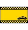 yellow cab background with taxi car vector image vector image